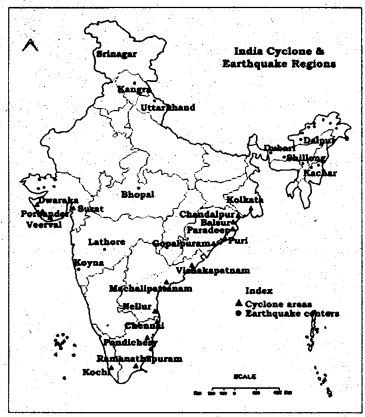 KSEEB SSLC Class 10 Geography Solutions Chapter 11 Indian Natural Disasters 1