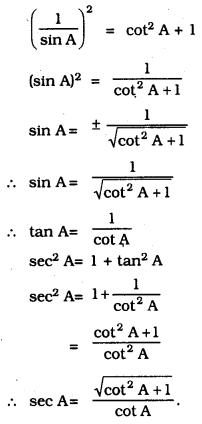 KSEEB SSLC Class 10 Maths Solutions Chapter 11 Introduction to Trigonometry Ex 11.4 1