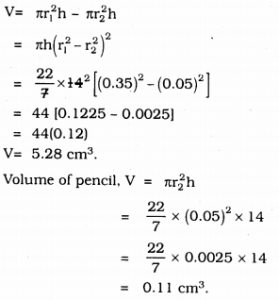 KSEEB Solutions for Class 9 Maths Chapter 13 Surface Area and Volumes Ex 13.6 Q 7.3