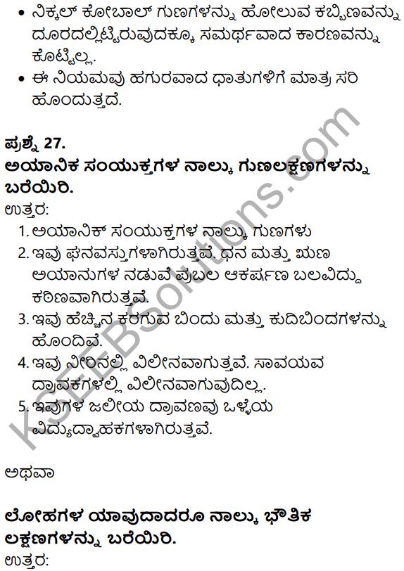 Karnataka SSLC Science Model Question Paper 1 in Kannada Medium - 16