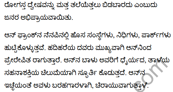 The Girl who was Anne Frank Summary in Kannada 4