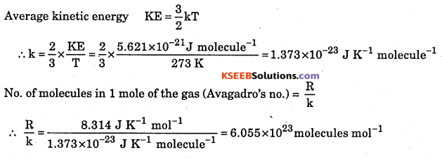 1st PUC Chemistry Question Bank Chapter 5 States of Matter - 18