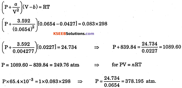 1st PUC Chemistry Question Bank Chapter 5 States of Matter - 27