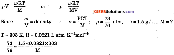 1st PUC Chemistry Question Bank Chapter 5 States of Matter - 32
