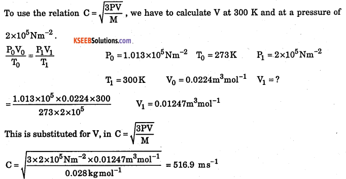 1st PUC Chemistry Question Bank Chapter 5 States of Matter - 51