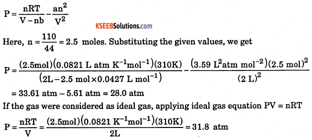1st PUC Chemistry Question Bank Chapter 5 States of Matter - 55