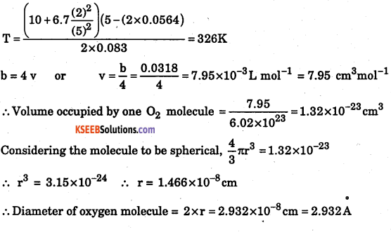 1st PUC Chemistry Question Bank Chapter 5 States of Matter - 57