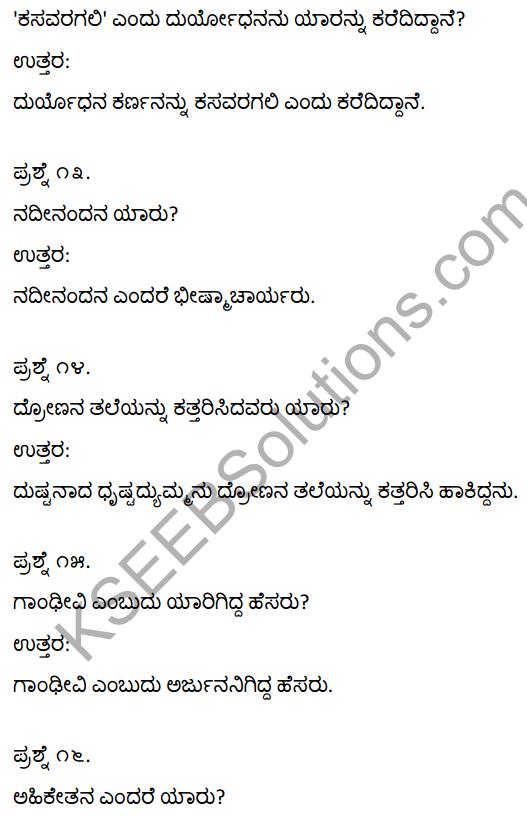 Duryodhana Vilapa Notes KSEEB Solution