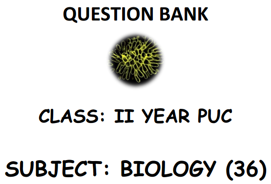 Karnataka 2nd PUC Biology Question Bank with Answers