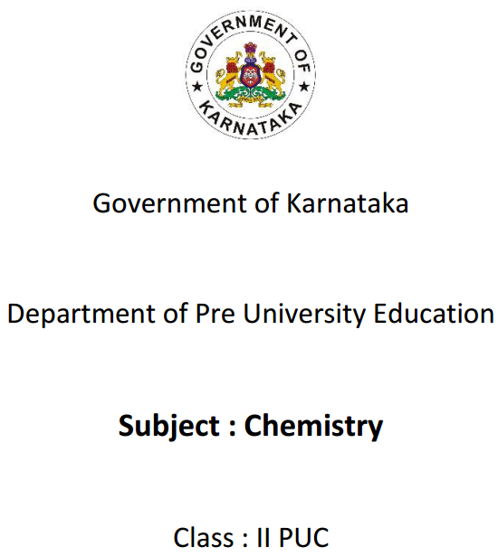 Karnataka 2nd PUC Chemistry Question Bank with Answers