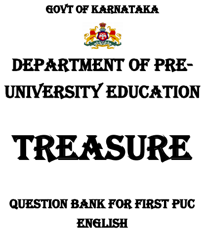 1st PUC English Question Bank with Answers