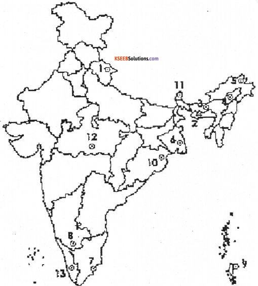 1st PUC Geography Previous Year Question Paper March 2015 (South) - 10