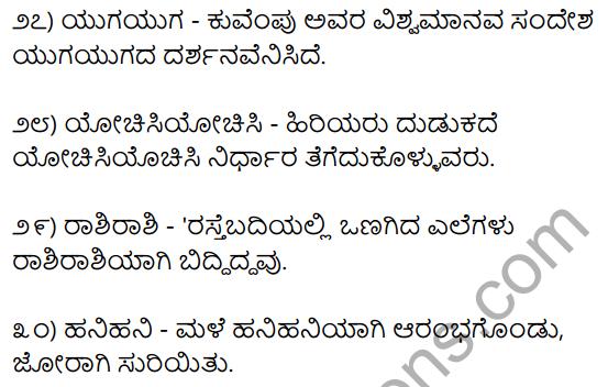 1st PUC Kannada Workbook Answers Dwirukti Padagalu 4