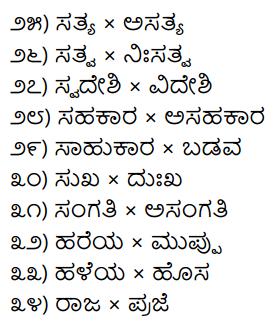 1st PUC Kannada Workbook Answers Viruddha Padagalu 2