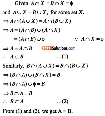 1st PUC Maths Question Bank Chapter 1 Sets 6