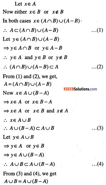 1st PUC Maths Question Bank Chapter 1 Sets 8