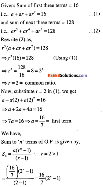 1st PUC Maths Question Bank Chapter 9 Sequences and Series 41