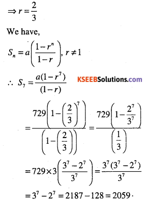 1st PUC Maths Question Bank Chapter 9 Sequences and Series 43