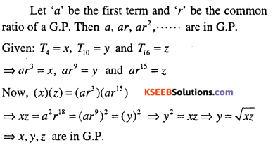 1st PUC Maths Question Bank Chapter 9 Sequences and Series 46