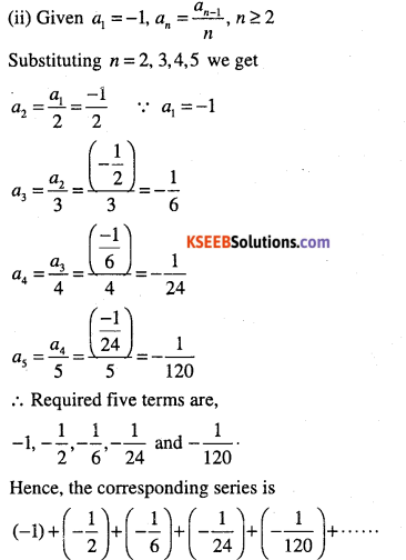 1st PUC Maths Question Bank Chapter 9 Sequences and Series 5