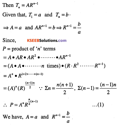 1st PUC Maths Question Bank Chapter 9 Sequences and Series 50