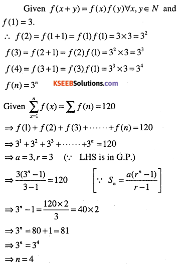 1st PUC Maths Question Bank Chapter 9 Sequences and Series 77