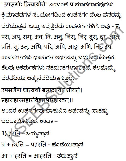 1st PUC Sanskrit Textbook Answers Vyakaran उपसर्गाः 1