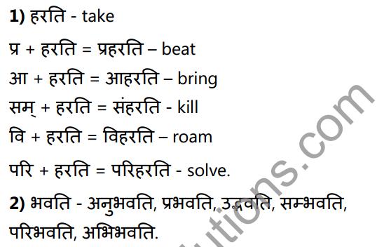 1st PUC Sanskrit Textbook Answers Vyakaran उपसर्गाः 3