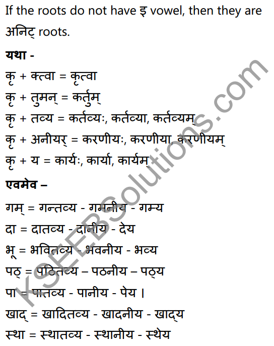 1st PUC Sanskrit Textbook Answers Vyakaran कृदन्ताः 8