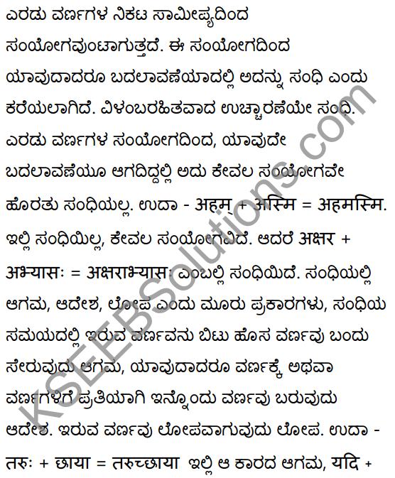 1st PUC Sanskrit Textbook Answers Vyakaran सन्धिः 1