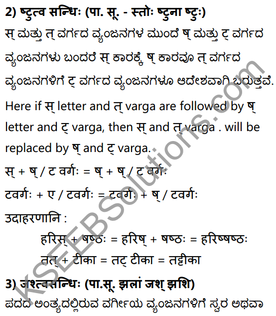 1st PUC Sanskrit Textbook Answers Vyakaran सन्धिः 14