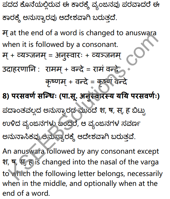 1st PUC Sanskrit Textbook Answers Vyakaran सन्धिः 18
