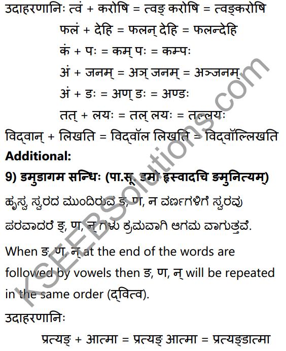 1st PUC Sanskrit Textbook Answers Vyakaran सन्धिः 19