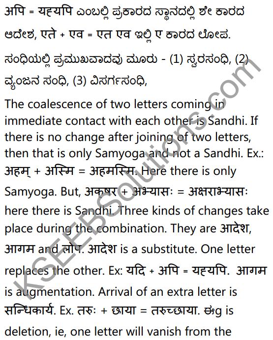 1st PUC Sanskrit Textbook Answers Vyakaran सन्धिः 2