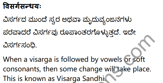 1st PUC Sanskrit Textbook Answers Vyakaran सन्धिः 21