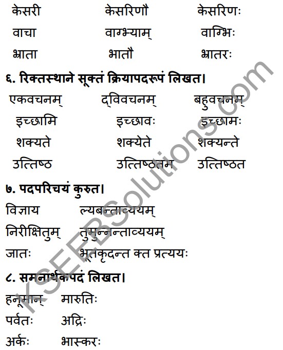 1st PUC Sanskrit Workbook Answers Karnataka 17