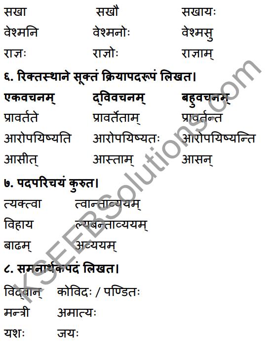 1st PUC Sanskrit Workbook Answers Karnataka 32