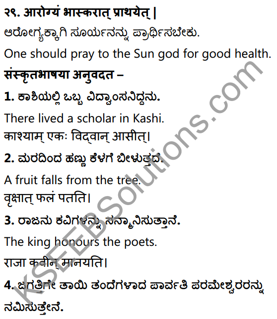 1st PUC Sanskrit Workbook Answers Karnataka 40