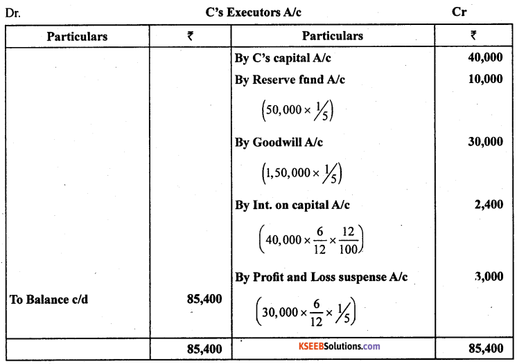 2nd PUC Accountancy Model Question Paper 1 with Answers - 5