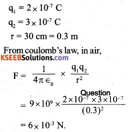 2nd PUC Physics Question Bank Chapter 1 Electric Charges and Fields 1