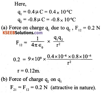 2nd PUC Physics Question Bank Chapter 1 Electric Charges and Fields 2