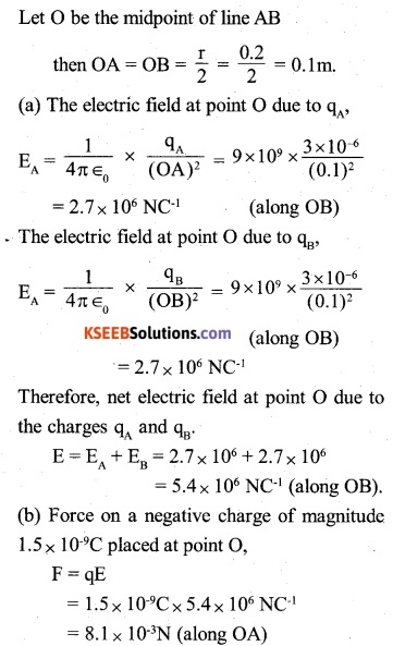 2nd PUC Physics Question Bank Chapter 1 Electric Charges and Fields 6