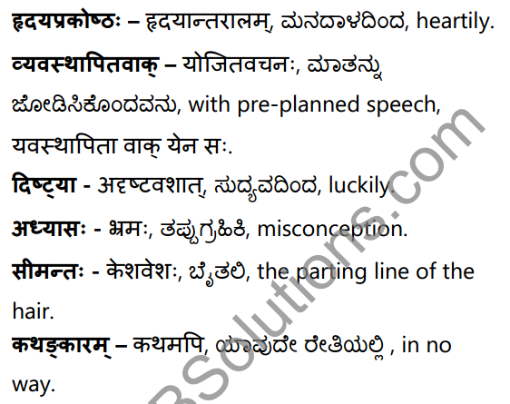 सा शान्तिः Summary in Kannada and English 36
