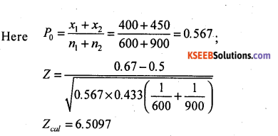 2nd PUC Statistics Model Question Paper 3 with Answers - 25