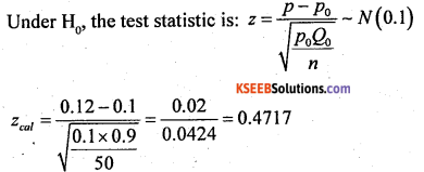 2nd PUC Statistics previous year Question paper june 2016 - 52