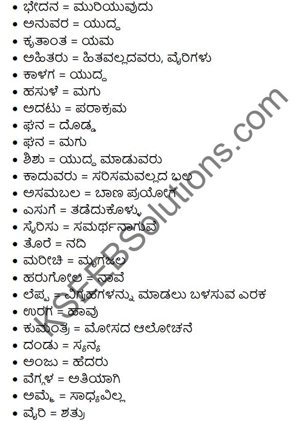 Abhimanyuvina Parakrama Summary in Kannada 5