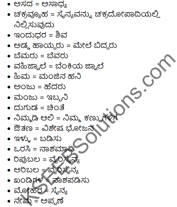 Abhimanyuvina Parakrama Summary in Kannada 6