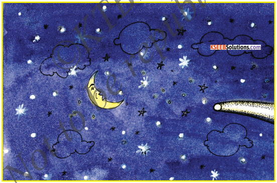 KSEEB Solutions for Class 6 English Poem Chapter 7 The Comet and the Moon 1