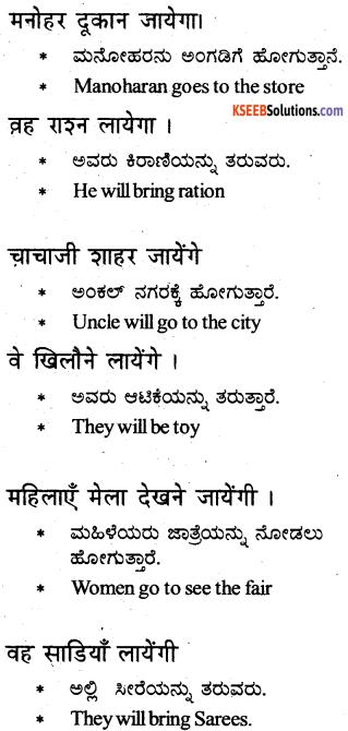 KSEEB Solutions for Class 6 Hindi Chapter 17 जायेगा, जायेंगे, जायेगी, जायेंगी 2