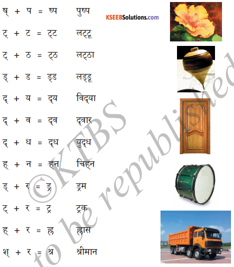 KSEEB Solutions for Class 6 Hindi Chapter 6 संयुक्ताक्षर 3